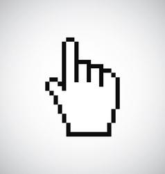 Pointer pixel cursor icon vector