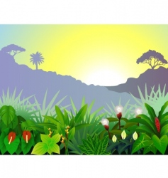 Tropical view vector