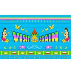 Visit again poster vector
