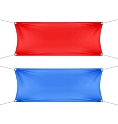Red and blue blank empty horizontal banners vector