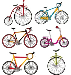 The complete set of bicycles vector