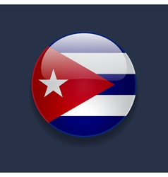 Round icon with flag of cuba vector