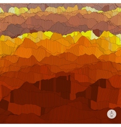 Abstract landscape background mosaic vector