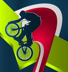 Modern dynamic designed sport background bmx vector