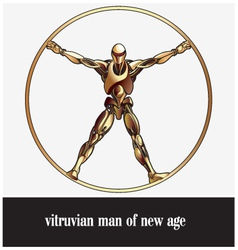 Vitruvian man of new age vector