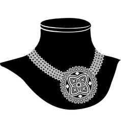 Ancient necklace vector