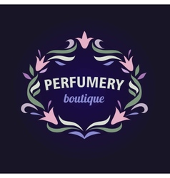 Logo with a vignette of flowers aromatherapy vector