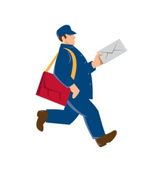Mailman postal worker delivery man vector
