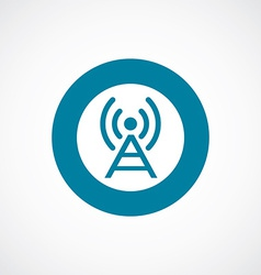 Antenna icon bold blue circle border vector