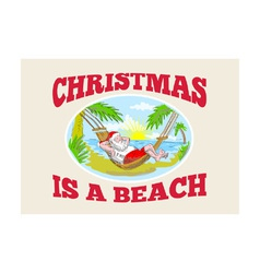Santa claus father christmas beach relaxing vector
