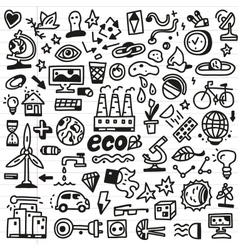Ecology - doodles set vector