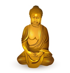 Gold buddha vector
