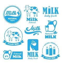 Milk labels vector