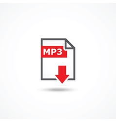 Mp3 download icon vector
