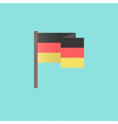 Flat germany flag on blue background vector