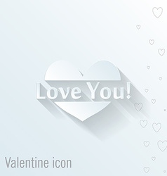 Heart icon valentine greeting card vector