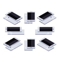 Isometric generic white smartphone vector