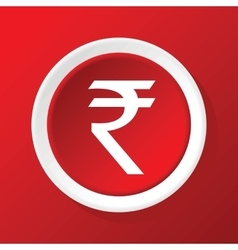 Rupee icon on red vector