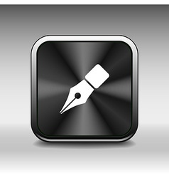Fountain pen icon pen business write symbol drawin vector