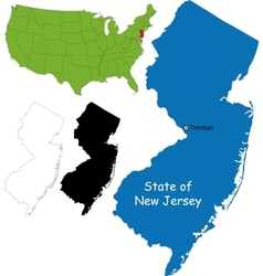 New jersey map vector