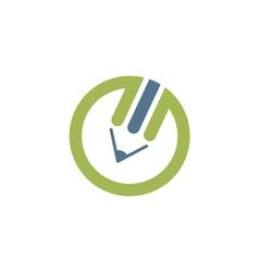 Pencil logo vector