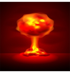 Nuclear explosion background vector