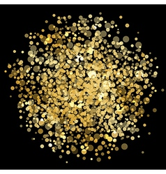 Abstract gold explosion vector