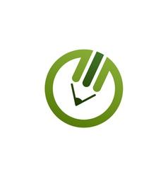 Green pencil logo vector