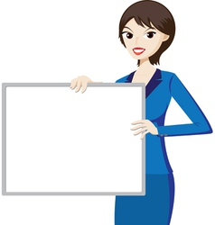 Woman with board vector