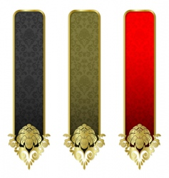 Set from gold banners vector
