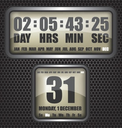 Countdown timer on octagon background vector