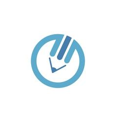 Blue pencil logo vector