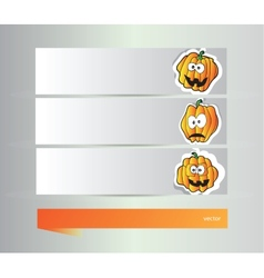 Happy halloween banners vector