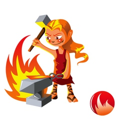 Elemental of fire vector