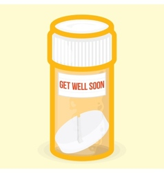 Get well soon healthy card vector