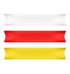 White red and yellow blank empty banners vector