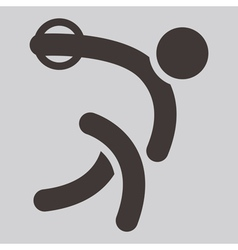Discus throw icon vector