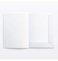 White empty open folder vector