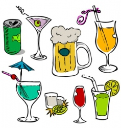 Alcohol glass set vector