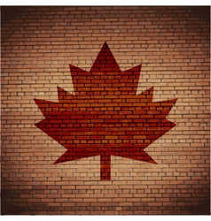 Maple leaf flat modern web button and space for vector