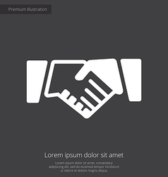 Handshake premium icon white on dark background vector