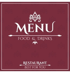 Elegant restaurant menu design vector