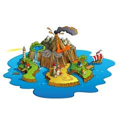 Wonder island vector