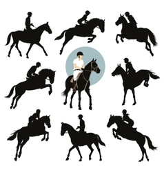 Equestrian sports vector