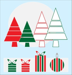 Christmas holidays design elements vector