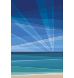Daylight under beach geometric abstract vector