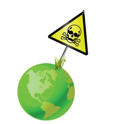 Earth sign toxic vector