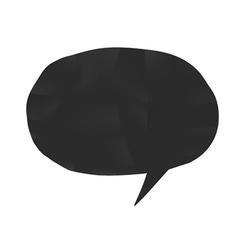 Bubble shape black vector