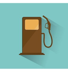 Gas station icon retro vector