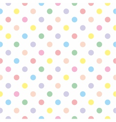 Seamless sweet colorful baby dots white background vector